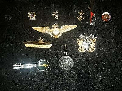 Various Military Pins Buttons Tie Clips