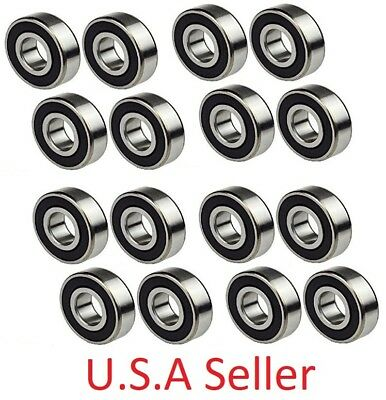 12 PC, 6203-2RS Rubber Sealed Ball Bearing, 17x40x12, 6203RS