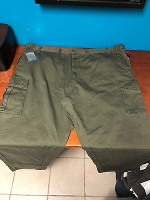 526fa6dfacddd Boulder Creek Big and Tall Men's Cargo Army Green Pant Size 60 Not Hemmed  NOWT