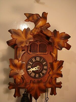 Large German Vintage 1950s  Three chain, Cuckoo Clock.Not working.