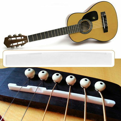 Buffalo Bone Bridge Saddle Replacement Parts For 6 String Acoustic Guitar ND