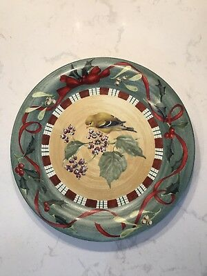"""Lenox China Winter Greetings Everyday Goldfinch Dinner Plate 10 3/4"""" NWT"""