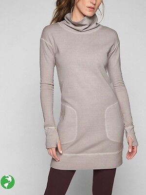 ed4f7479152 ATHLETA ECO WASH Turtleneck Sweatshirt Dress