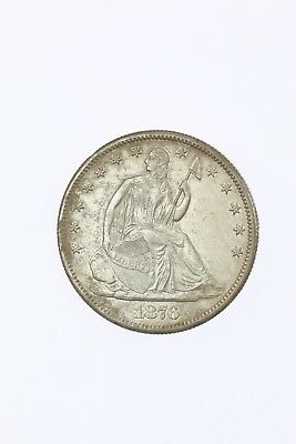 Raw 1876-CC Seated Liberty 50C Corroded / Damaged Carson City Silver Coin