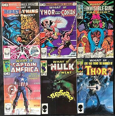 Lot Of 6 What If Comics (Marvel,1983/1984) #37,39,42,44,45,47 Bronze/copper Age~