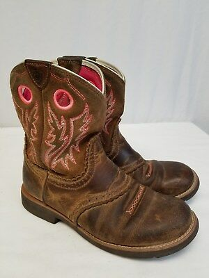 Ariat Fat Baby Boots Womens Size 6 Western Leather Cowboy Distressed Boots c31d8777b