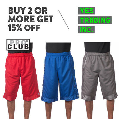 Proclub Pro Club HOMME Poids Lourd Court Maille Basketball Gym Actif