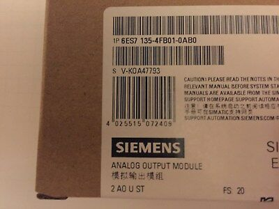 1x Siemens Simatic S7-ET200S 2Analog Out Modul ( 6ES7 135-4FB01-0AB0 ) NEU OVP