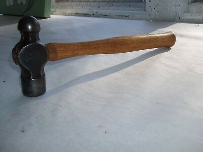 Vintage Heller 1 1/2 Pound Ball Peen Hammer  with vintage NOS hickory Handle