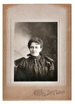 1890s Cabinet Card Photo of Woman in Mourning Dress by Charles Neil Toronto