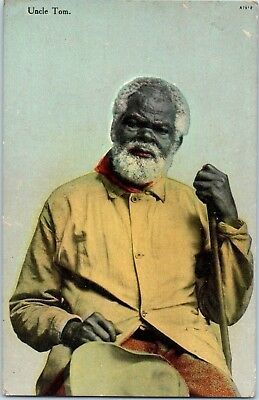 Antique Colored Uncle Tom Used Postcard, Postmarked 1910