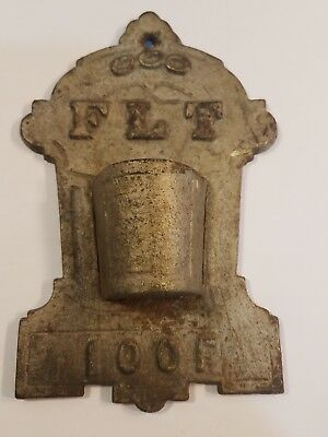 Rare Antique Odd Fellows Cast Iron Match Holder
