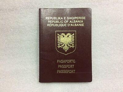 Albania expired passport  Travel Document  circulated 48 pages