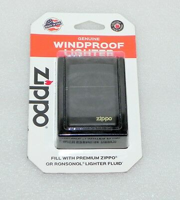 Genuine Zippo Windproof Black Matte Lighter Model: 218 * NEW * FREE SHIPPING *