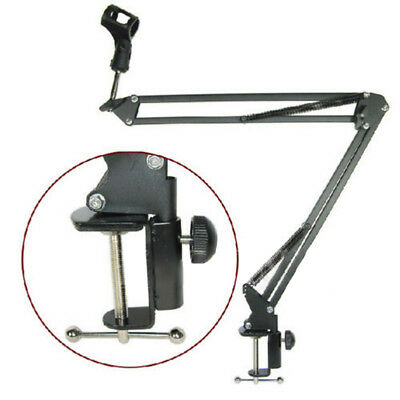 Broadcast Studio Microphone Suspension Boom Scissor Arm Stand Table Mount Holder