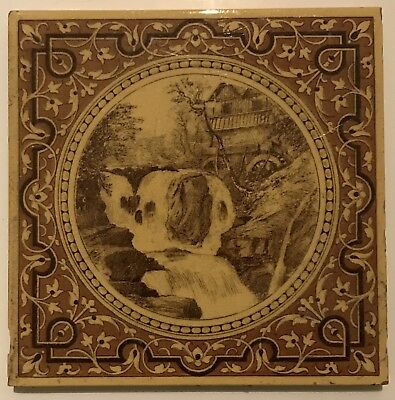 Victorian Tile - The Watermill - Minton And Hollins
