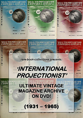 Vintage Projector Magazines On Dvd - Projectors Lamps Cinema Motion Picture Film