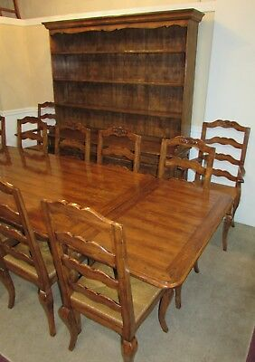 Guy Chaddock Melrose Dining Room Set, Table, 12 Chairs, China Hutch Solid Walnut