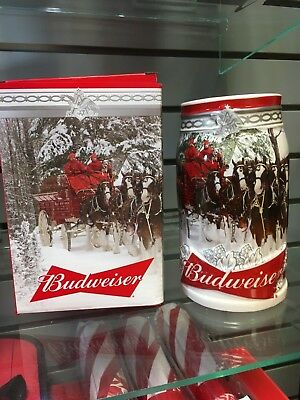 2017 Budweiser Holiday Stein in Box with Certificate of Authenticity