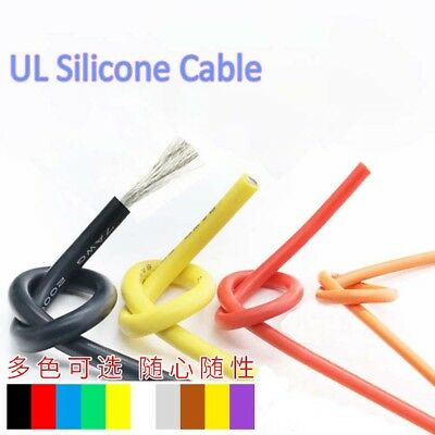 UL Silicone 20AWG Stranded Copper Core Flexible Wire 0.08mm RC Electronic Cable