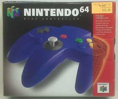 Nintendo 64 BLUE CONTROLLER BOX ONLY!! Original Packaging Instructions Inserts