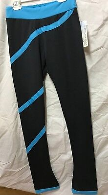 Chloe Noel NWT Turquoise Spiral ice Figure Skating Pants Adult Medium Retail $60