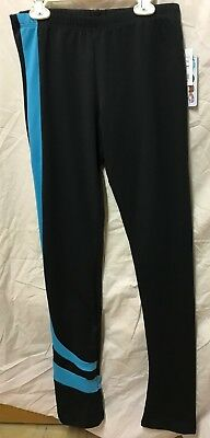 Chloe Noel NWT Turquoise Swirl ice Figure Skating Pants Adult Medium Retail $60