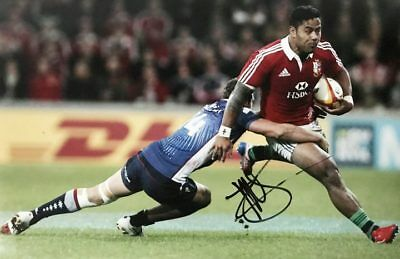 Manu Tuilagi Signed Poster Photo - Lions Rugby Autograph + *certificate*