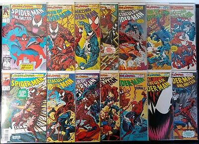 Spider-Man Maximum Carnage #1-14 Complete Set! Great condition! (Marvel 1993)