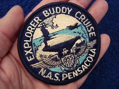 1955 N.a.s. Pensacola Florida Explorer Buddy Cruise Patch - Bsa Sea Explorers