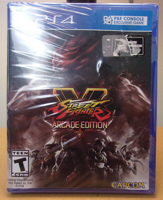 Street Fighter V Arcade Edition (Sony PlayStation 4) PS4 New and Sealed!