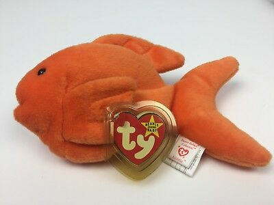a0296799055 Rare Ty Beanie Baby Goldie The Goldfish Retired 1994 Pvc Pellets 3 Errors