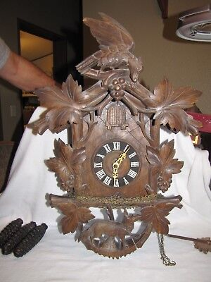 Antique Black Forest Musical Cuckoo Clock Germany NICE WORKING CONDITION