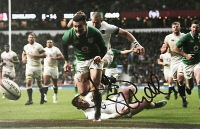 a3725df88bd Signed Jacob Stockdale Photo, Ireland Rugby - Grand Slam 2018 +  *Certificate*