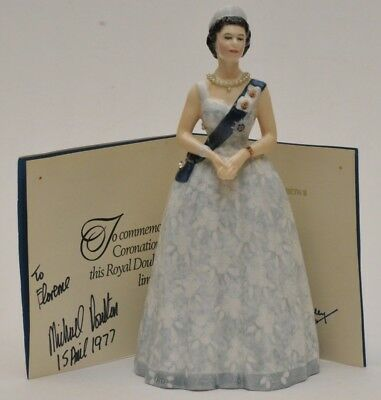 RARE ROYAL DOULTON QUEEN ELIZABETH 20TH ANNIVERSARY #683 of 750 W/ PALACE LETTER