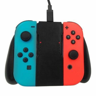 Comfort Grip Handle Charging Station For Nintendo Switch Joy-Con Charger ND