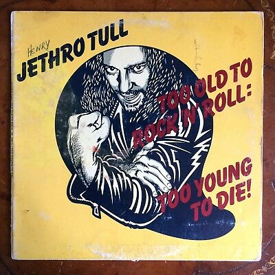 Jethro Tull Too Old To Rock 'N' Roll: Too Young To Die! Chr 1111 Lp Green Label