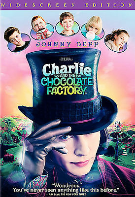 Charlie and the Chocolate Factory (DVD, 2005, Widescreen) JOHNNY DEPP TIM BURTON