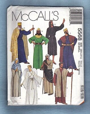 McCALL'S SEWING PATTERN 5568 CHRISTMAS PAGEANT MISSES & MENS, XS, *Uncut*