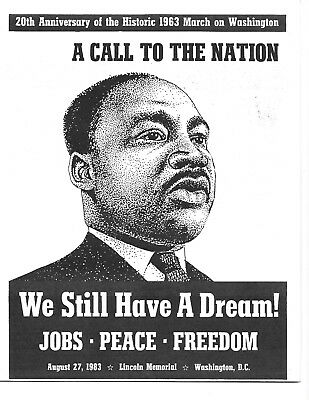 Civil Rights - 1983 20Th Anniversary Of Dr. Ml King's March On Washington Flyer