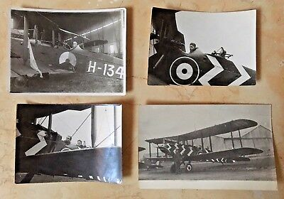 Original - Ww1 Dh-9 Aviation Grouping; 3 Photographs And 1 Real Photo Postcard