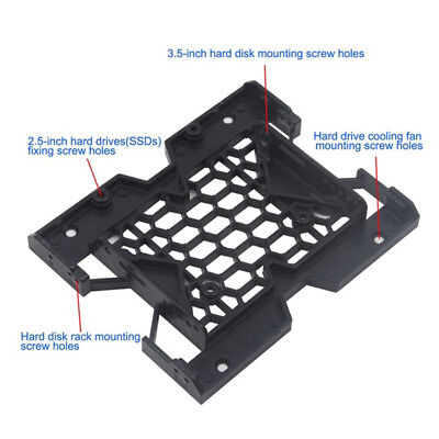 "5.25"" to 3.5"" 2.5"" SSD Case Hard Drive Bay Tray Bracket Mounting HDD Adapter AU"