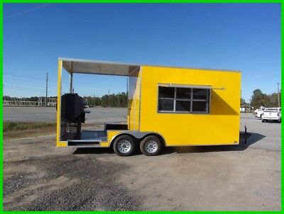 8.5 x 20 12ft inside enclosed cargo concession pourch BBQ trailer 3 x 6 window