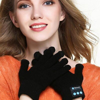 Men Women Wireless Bluetooth Gloves Knitted Touch Screen Call Talking Gloves ND