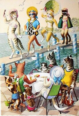 Alfred Mainzer Dressed Cats