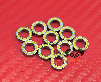4 pcs MR85-2RS (5x8x2.5 mm) Yellow Rubber Sealed Ball Bearing Bearings 5 8 2.5