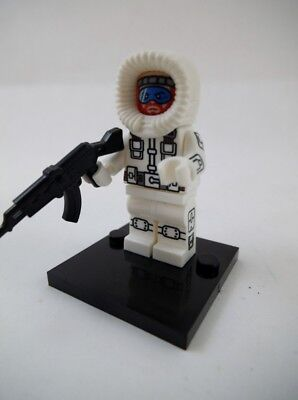NEW GI Joe Snow Job Arctic Trooper Lego Block Compatible Cobra Mini Figure USA