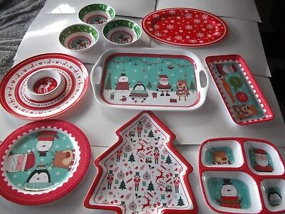 Choose Christmas serving Dishes,Trays,4 section Dish,Platter, Chip & Dip,Bowls +