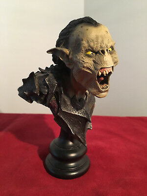 Sideshow Weta Moria Orc Swordsman Bust Statue LOTR Lord of the Rings Pre-owned