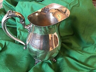Vintage Oneida Pitcher Silverplated Beverage Water  64oz